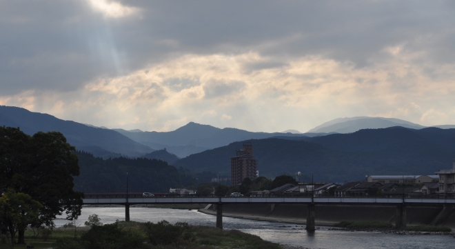 Sunrise in Hitoyoshi, October 2012